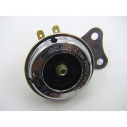 Avertisseur sonore - 12 Volt - Klaxon - Chrome - ø 65mm