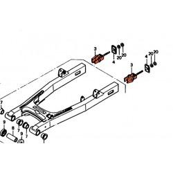 Transmission - plaquette de reglage de chaine - (x1) - CB250N