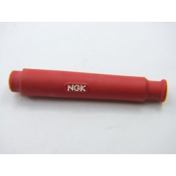 Bougie - Anti-parasite NGK SD-05 FM-R - 180° - silicone rouge