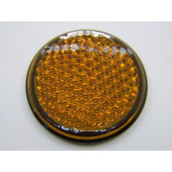 Reflecteur - Catadioptre Orange - Rond - ø60 - A Coller
