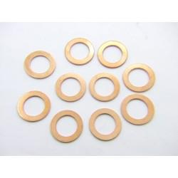 Rondelle cuivre 14x22x1.5 mm  - (x10)