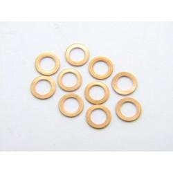 Rondelle plate - Cuivre - ø 6x10x1.0 - (x5)