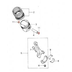 Moteur - Piston - Circlips - Axe de Piston - 15mm - (x2)