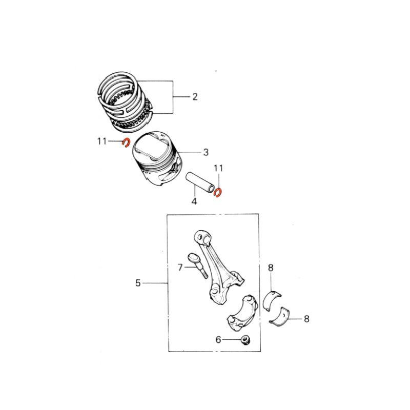 Moteur - Piston - Circlips - Axe de Piston - 15mm - (x1)