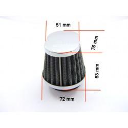 Filtre a air - ø 54mm - Cornet - Oval - (x1) -