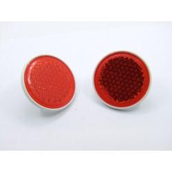 Reflecteur (x1) - Catadioptre Rouge/Blanc - ø 60mm x M5 a visser