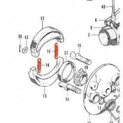 Frein - Ressort de machoire Avant - CB125K