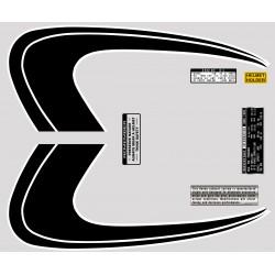 Decoration Reservoir - Autocollant CB350 K