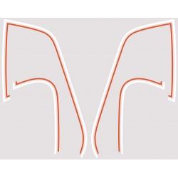 Decoration Reservoir Blanc/Orange - Autocollant CB350 Four