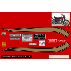 Decoration Reservoir - CB750K0-CB750K1 - Autocollant