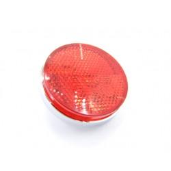 Reflecteur (x1) - Catadioptre Rouge/Chrome - ø60 x M5 a visser
