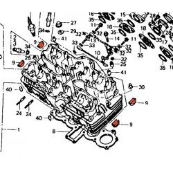 Moteur - 1/2 lune - embout de culasse - CBX650