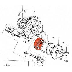 Moteur - Roulement axe sortie boite - 6305 - 25x62x17 mm