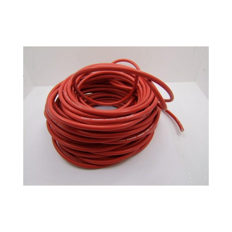 Bougie - cable PVC ø 7mm -  Rouge - 1metre - fil de bougie