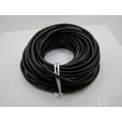 Bougie - cable PVC ø 7mm -  Noir - 1metre - fil de bougie