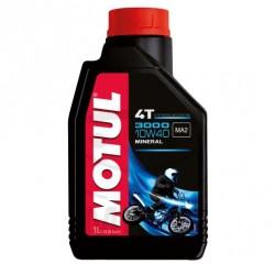 Moteur - Huile - MOTUL 3000 -  Minerale 10W40 - 1 Litre