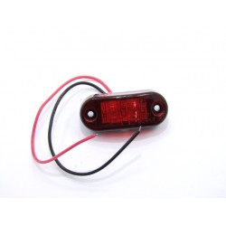 Feux stop et position - Catadioptre rouge LED - 65x25 mm