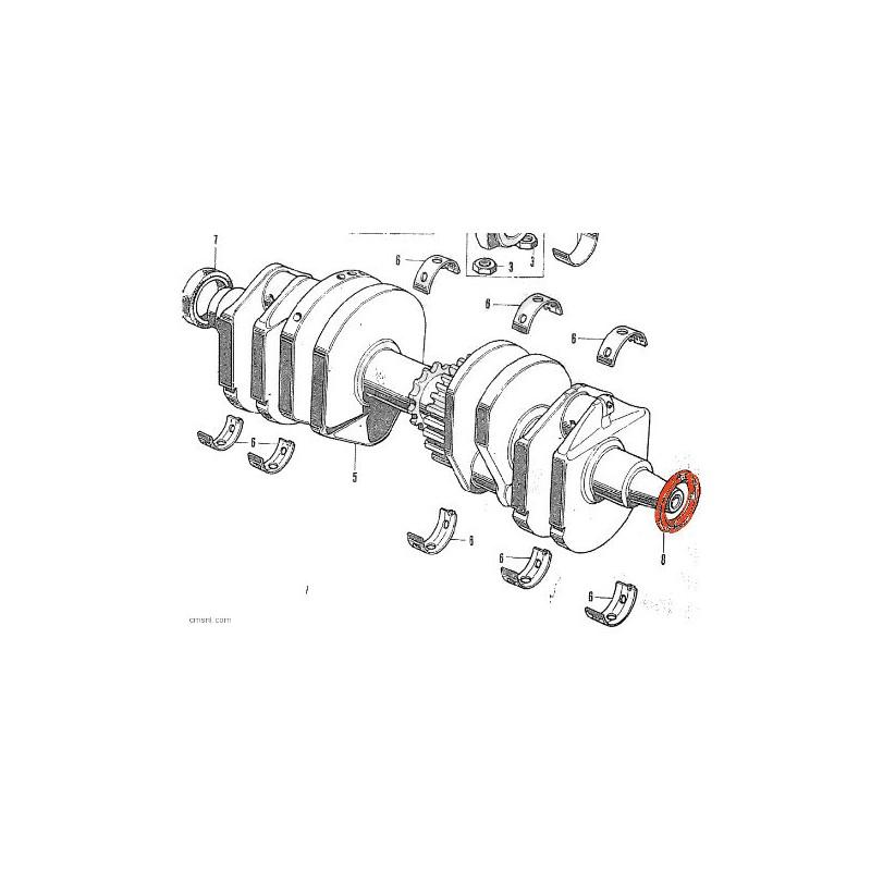 Moteur - Joint spy vilebrequin  (x1) - 30x45x8 - CB250/400/550/650/750