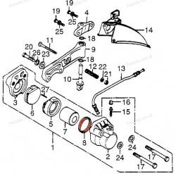 Frein - Etrier  - Joint de piston ø 38.10mm - CB250-350-360-...-500-550...