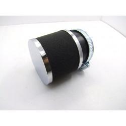 Filtre a air - ø 39mm - Cornet Mousse + chrome - (x1) -