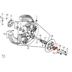Roue avant - Compteur - Capteur de vitesse - Non Livrable