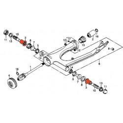 Bras oscillant - Ecrou articulation fourche - (x1)