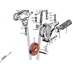 Distribution - Galet - Tendeur de chaîne  - CB450K