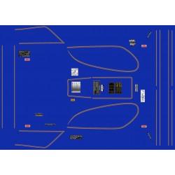Decoration - GL1100 - Liseret or - pour fond bleu