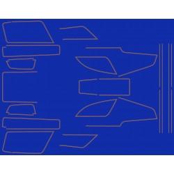 Decoration - GL1100 - Avec Valise - Liseret or - pour fond bleu