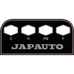 Japauto - 1980 - Decoration, autocollant - tableau bord