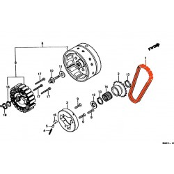 Chaine Alternateur - GL1000 - GL1100 - GL1200