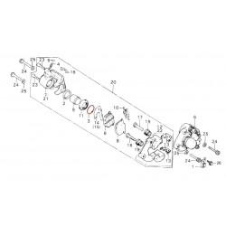 Frein - Etrier Av./Ar. - Circlips  ø38.10 mm - CB400-CX400-.....-GL1000