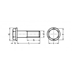 DIN6921 - Vis M6 x30mm - Hexa. à collerette - inox - (x10)