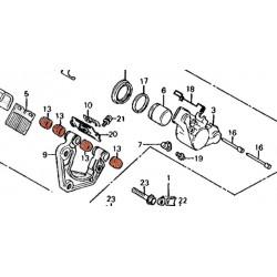 Frein - Etrier - joint flottant de fixation - (x1)