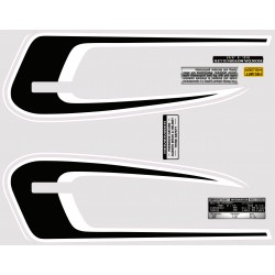 Decoration Reservoir Noir/Blanc - Autocollant CB250G
