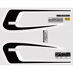 Decoration Reservoir Noir/Blanc - Autocollant CB360G