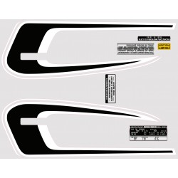Decoration Reservoir Noir/Blanc - Autocollant CB360T