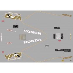 Decoration - Autocollant - VFR750 - Nacre - 1988