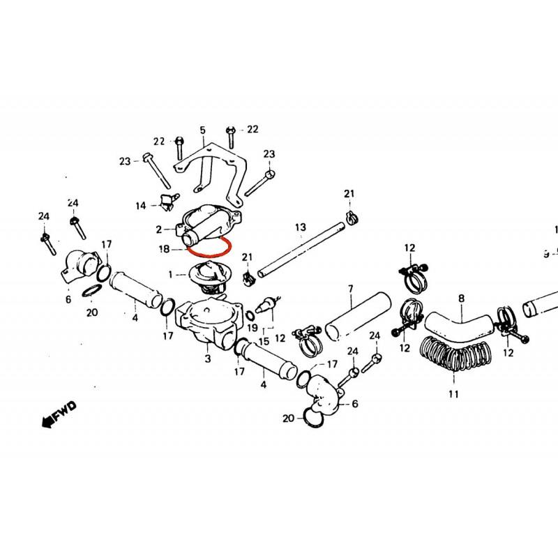 Pompe a eau - Thermostat - Joint torique 53.8x3.10
