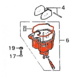 Carburateur - Cuve Gauche + joint - n° 1 et 2