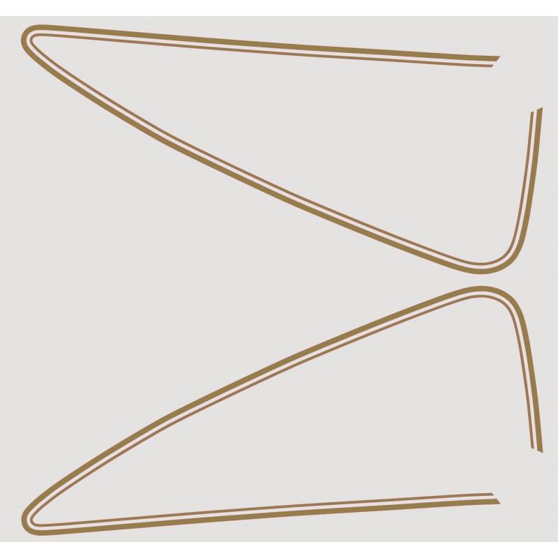 Decoration - reservoir - CX500 custom - autocollant doré
