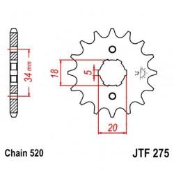 Transmission - Pignon sortie boite - 15 dents - JTF 275 - Chaine 620