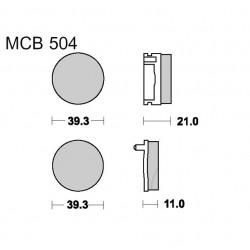 Frein - Plaquette TRW - MCB-504