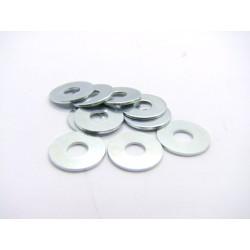 Rondelle - plate - Acier zingué - ø 6.5 x18 x1.0mm - (x10)