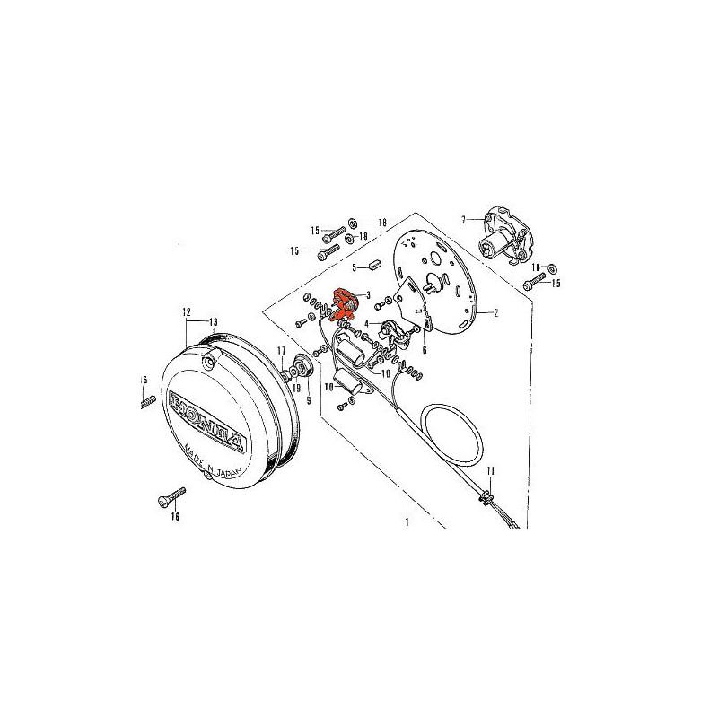 Allumage - Vis platinée - Gauche - CB Four - 30203-300-005