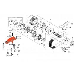 Arbre primaire - amortisseur de couple (x8)