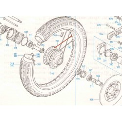 Roue Avant - Rayon Droite - (x1) - CB350-CB360-CB400....750K0