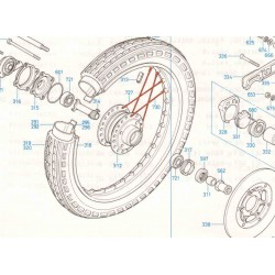 Roue Avant - jeu de rayonnage - (x36) - CB350-CB360-CB400....
