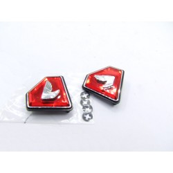 Cache Lateral - Embleme - Logo - Triangle/Diamant Rouge+Gauche - Honda CB Four