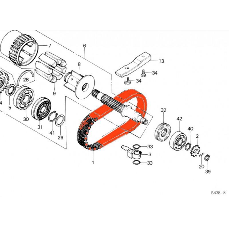 Moteur - Chaine primaire - CB900F - Z650/Z750 - ZR750 ....